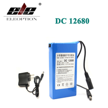 DC12680 Protable 6800mAh for DC 12V Super Rechargeable switch Lithium-ion Battery Pack US/EU Plug For Cameras camcorders(China)