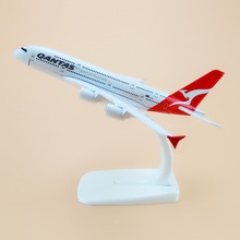 16cm Australian Air Qantas A380 Airlines Airplane Model Airbus 380 Airways Plane Model w Stand Aircraft Gift(China)