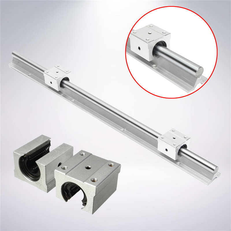 Support Linear Rail SBR16-600mm Optical Axis Guide + 2 SBR16UU Bearing Blocks Mechanical Hardware Engraving Woodworking<br>
