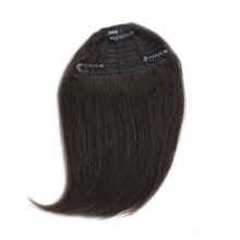 ALI BEAUTY Human Hair Gradient Bangs Clip In Hair Extensions European Remy Hair Fringe Bangs Hairpiece 10 Colors Can Be Dyed