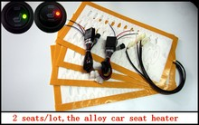 free shipping,The new alloy seat heater with round switch and electronicl box,car heated pads car heater