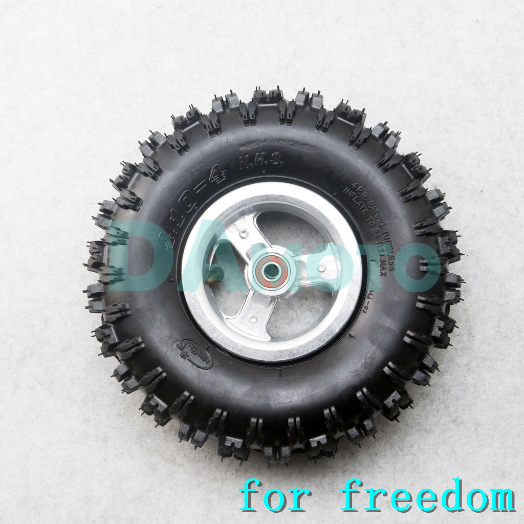 2 Ply 4.10-4 Dirt Tread Tire 47cc 49cc 24 psi Dirt Bike Quad Scooter Moped ATV