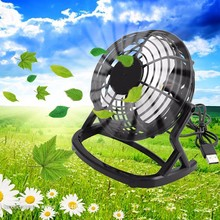 Notebook Laptop Computer Portable Super Mute PC USB Cooler Desk Mini Fan Black H