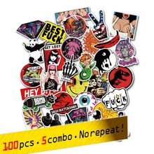 Anime Stickers for Notebook Scrapboking Stikers for Children Car-styling Kids Stickers Sheets For Laptop Suitcase 100pcs Sticker