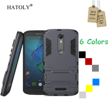 HATOLY For Motorola Moto X Force Case Hard Rubber Back Case for Motorola Moto X Force Cover For Moto Droid Turbo 2 XT1585 XT1581