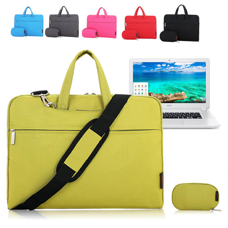 For Acer Chromebook 15 CB5-571 / C910 15.6 Laptop Shoulder Bag Sleeve Carrying Case Briefcase w/ Handle + Accessories Pouch<br><br>Aliexpress