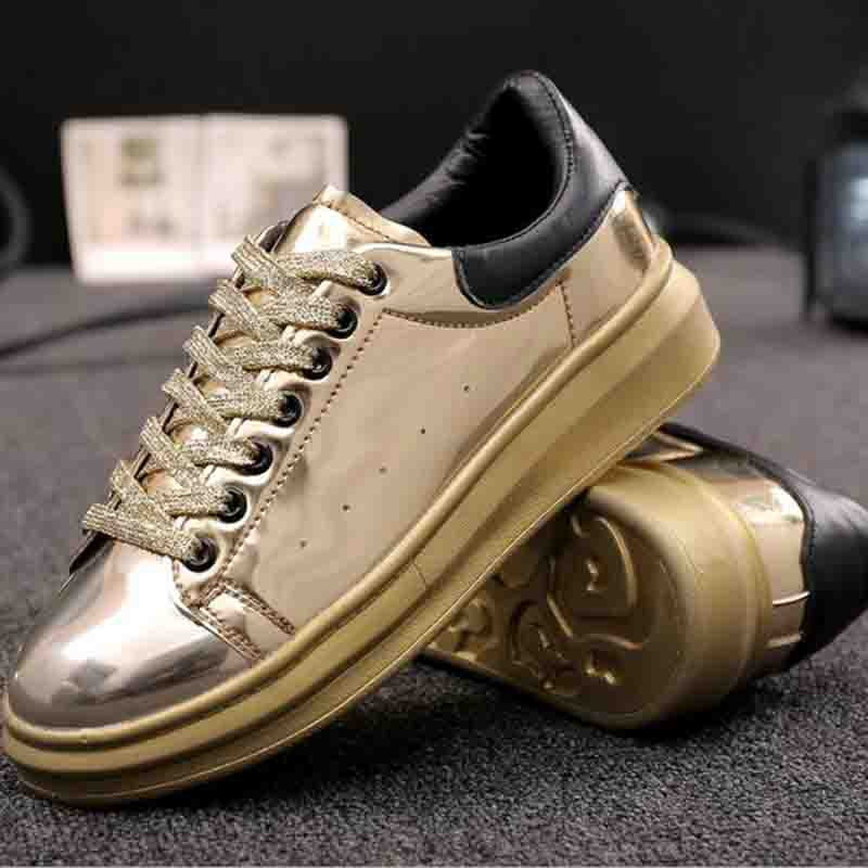 Superstar creepers platform shoes 2017 Patent Leather Women Shoes Espadrilles Spring Autumn Womens Wedges Shoes Lace Up Casual<br>