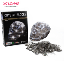 50 pcs/Set 3D Flash Skull Crystal Puzzle Funny Adult Puzzle DIY Skeleton Model Cool Decoration For Home Educational Toys(China)