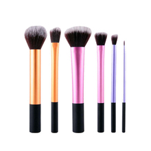 Buy New Colorful 6Pcs/Set plastic handle Makeup Brushes Set Synthetic Hair Make Brushes Tools Cosmetic Foundation Brush Kits for $5.99 in AliExpress store