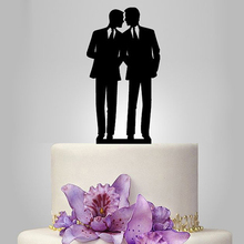 2017 Real Rushed Acrylic Gay Wedding Cake Topper/Wedding Stand/Wedding Decoration Wedding Cake Accessories Casamento