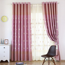 Insulated Drapes Purple Drapery Panels Embroidered Thread Curtain Blackout Swag Curtains Flowers Window Panels Rustic BlindS(China)