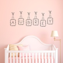 Hanging Frames Custom Dooble Letter Kids nAMe Wall Mural Special Nursery Bedroom Decorative Vinyl Wall Decals Sticker M-14