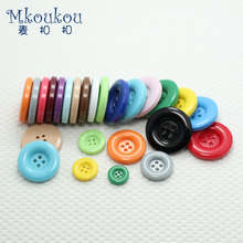 High-grade windbreaker clasp Great circle edge candy color wine red coat coat buttons DIY craft