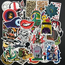 cool 50 pcs stickers toys for children Travel Suitcase Wall Pencil Box Bike Phone Sliding Plate of mixed graffiti Styling(China)