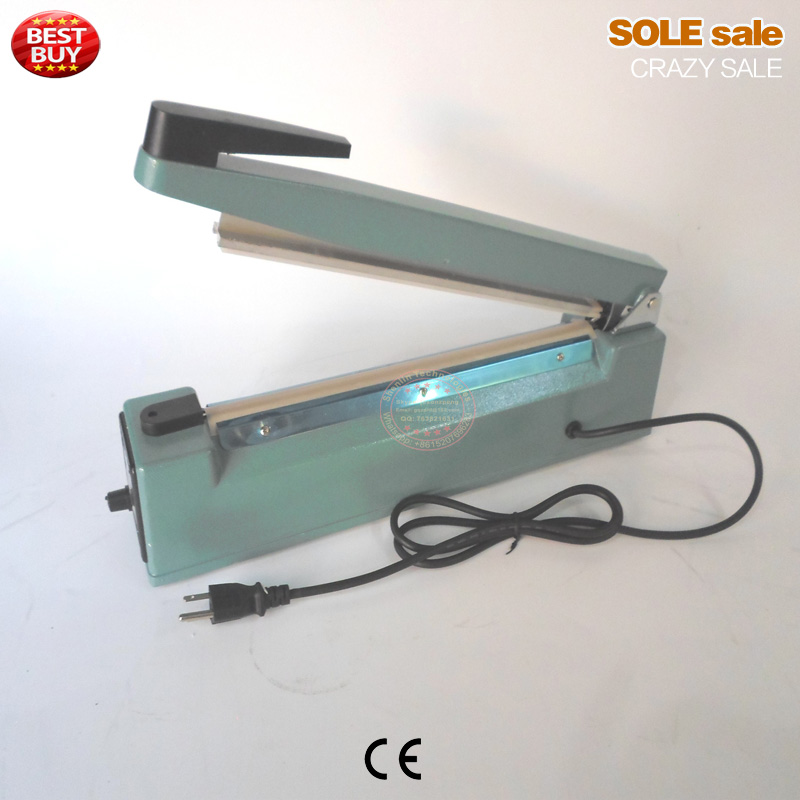 Manual impulse sealing machine plastic bags sealer hand held aluminum bags sealer packaging sealer 400mm 110V 2 heating wire<br>