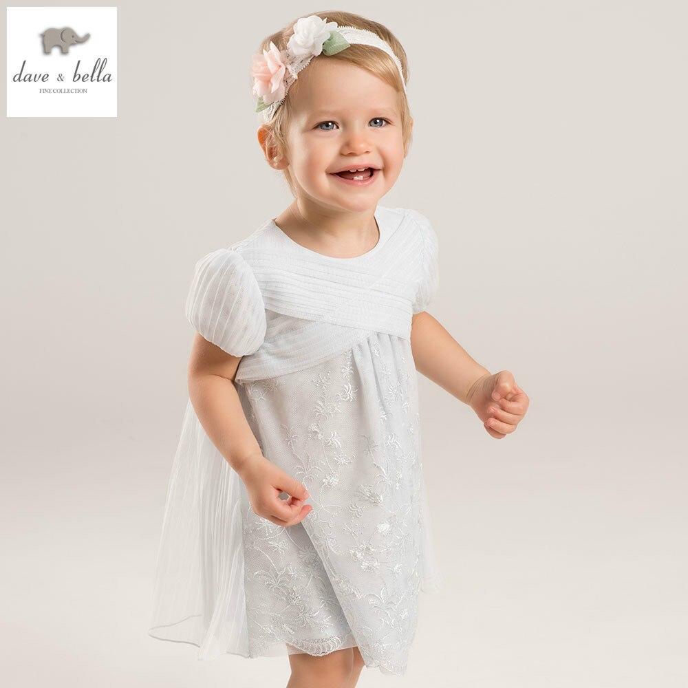DB5173 dave bella summer baby girls princess dress childs flowers dress kids lovely dress children dress baby lolita costumes<br>