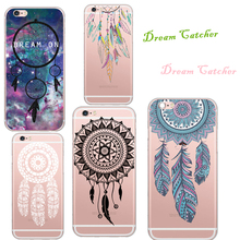 Luxury Good Luck Dream Catcher Painted Soft Silicone Phone Case Back Cover Coque For Apple iPhone 6 6S 5 5s Fashion Fundas