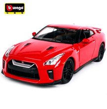 Maisto Bburago 1:24 2017 Nissan GT-R GTR Sports Car Diecast Model Car Toy For Kids Toys With Original Box Free Shipping