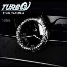 Car Styling Rhinestone Central Front Clock Trim Cover Sticker For Mercedes  Benz C E GLC class GLC220 C180 Interior Decoration 331b54d71cdb