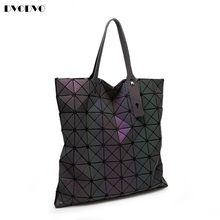 DVODVO 2017 Luminous Women Bao Bao Bag High-end Geometric Handbags Plaid Shoulder Diamond Lattice BaoBao Ladies Messenger Bags(China)