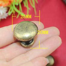 Promotion Seconds Kill Freeshipping 25*20mm Antique Small Round Handle Alloy Drawer Mushroom Hole(China)