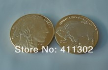 High quality wholesale 1oz Gold clad  .999 $50 USA Buffalo Souvenir coins ,Gold Bullion Coins 25pcs/lot