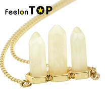 Natural Texture Light Beige Pendant Necklace New Inspiration Design All-match Fashion Necklace
