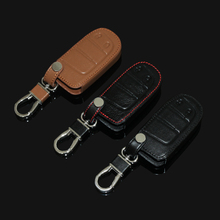 New design leather car key cover For JEEP Grand Cherokee Dodge JCUV dart Journey Chrysler 300C Fiat  ,2 Buttons smart key