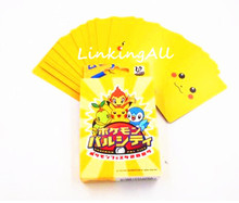 54 pcs/pack Anime Pocket Monster pikachu Playing Poker Cards Cosplay Board Game Cards one piece