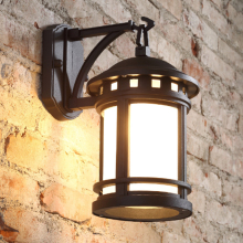 American style retro lamp outdoor antique European style outdoor wall lamp waterproof courtyard lamp villa duplex wall lights(China)