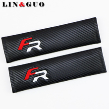 LINGUO 2PCS Case For Seat Leon 2 FR+ Ibiza Cupra Altea Belt Racing Auto badge Car Styling(China)