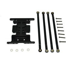 Aluminum Center Skid Plate 125MM With Pull Rods For Axial SCX10 1:10 RC Car(China)