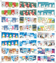 1 Sheet Nail Art Water Decals Merry Christmas Sticker(China)