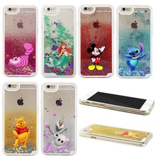 For iPhone 5S Case Latest Popular Lilo & Stitch Pooh Cute Cartoon Liquid Quicksand Star Sparkle Case For iPhone 5 5C 4 4S