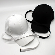 2017 Spring Summer New Pure Solid Color Baseball Cap Long Belt Curved Hat SUNCAP Snapback Cap(China)