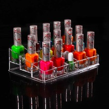New Functional Transparent Plastic Nail Polish Lipstick Cosmetic Makeup Organizer Crystal Acrylic Dress Desktop Storage Box