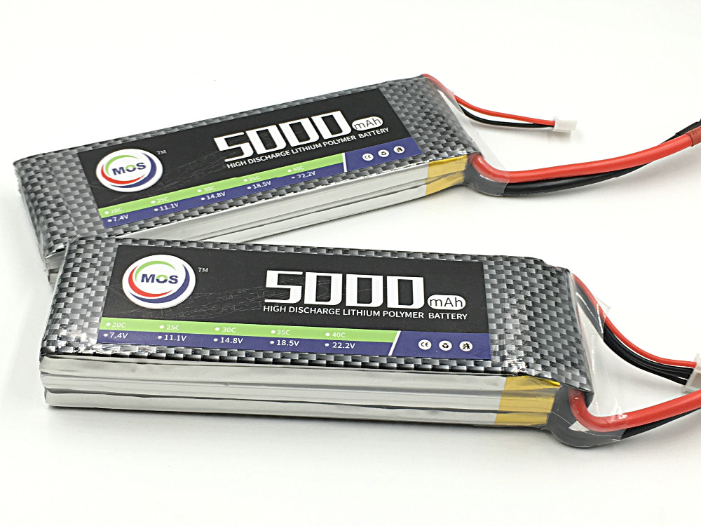 MOS 11.1v 5000mah 30c 3s RC lipo battery for rc airplane rc helicopter free shipping<br>