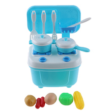1 Set Funny Children Mini Cooking Cookware Play Toy Kitchen Kitchenware Material Safety Educational Simulation Kitchen Food Toys(China)