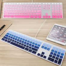 Multiple Colour Keyboard Cover For Apple Keyboard with Numeric Keypad For iMac G5/G6 Waterproof Protective Skin Film(China)