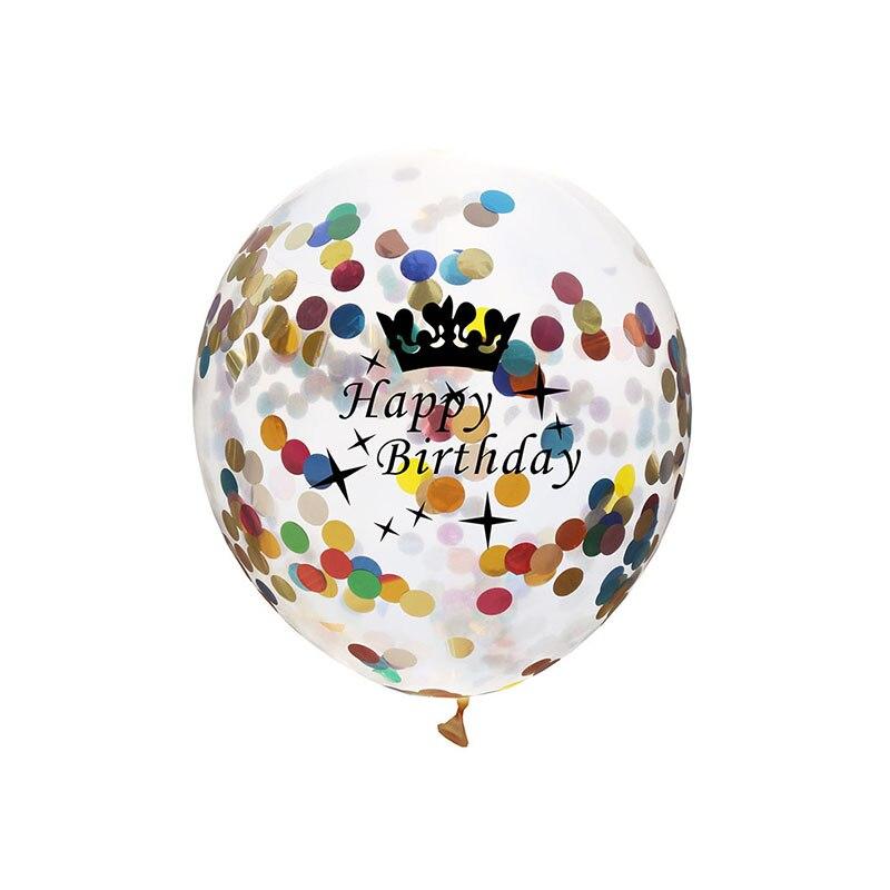 5pcs 12inch Balloon Party Wedding Decoration Multicolor Confetti Balloon Thickening Pear Ballons Decoration Birthday 11