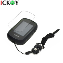 Protect Black Case + Black Detachable Ring Neck Strap +Screen Protector for Hiking Handheld GPS Garmin eTrex Touch 25 35 35T