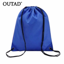 OUTAD Durable Convenient 41cm x 33cm Swimming bags Drawstring Beach Bag Sport Gym Waterproof Backpack Swim Dance Drop Shipping(China)