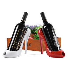 High Heel Shoe Wine Bottle Holder Stylish Rack Gift Basket Accessories for Home(China)