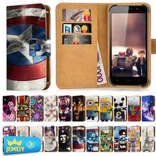 For Gigabyte GSmart Guru G1 Akta A4 Universal Printed PU Wallet Flip Flora Leather Case Cell Phone Cover Cases Middle Size