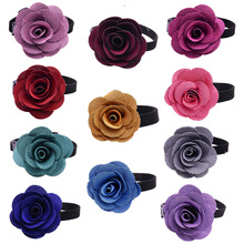 30X Valentine's Day Dog Cat Rose Flower Collar&Bow ties Adjustable Pet Puppy Collar Dog Grooming Pet Supplies(China)