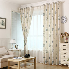 High quality level European and Market style linen curtains for children room living room bedroom semi shading curtains(China)