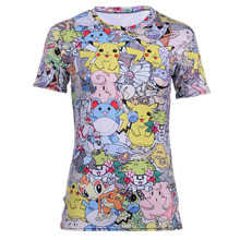 High Quality Dragon Pokemon Women's Tshirt Vibrant Cartoon KAWAI IP IK A Department T-shirt Summer Fitness Tee Tops Shirts(China)