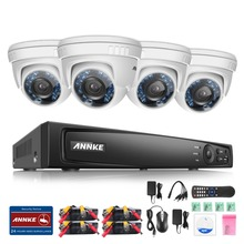 ANNKE 8CH 1080P HD-TVI H.264 Realtime DVR Security Camera System NO HDD included With (4)HD 1080P CCTV Dome Cameras,Weatherproof