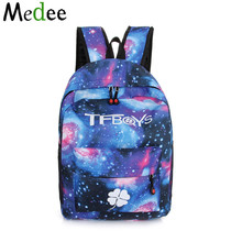 2017 School Bags Dor Teenagers Blue Backpacks Space bag Travel Backpack Schoolbag Backpack Teenager Sac a Dos Homme UBH089