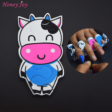 5pcs Cartoon Cows EVA Soft Sponge Foam Finger Toe Separator Nail Art Salon Pedicure Manicure Tool Feet Care Beauty Bracket